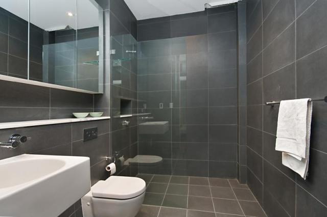 Bathroom Tiles Horizontal bathroom shower wall tile sink mount hanging mirror long